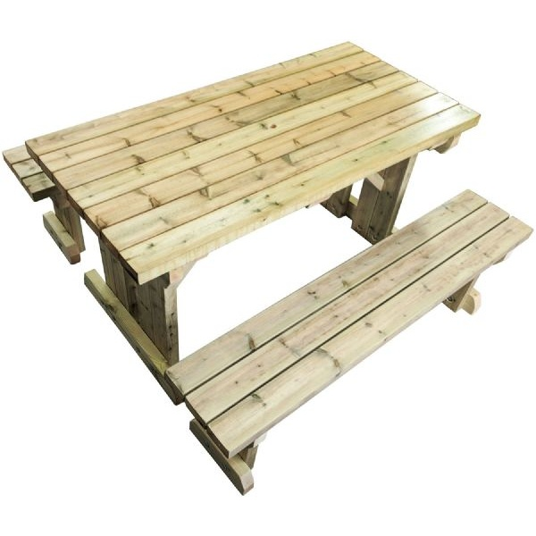 free standing pub bench against a white background
