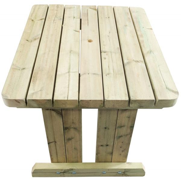 wooden garden dining table