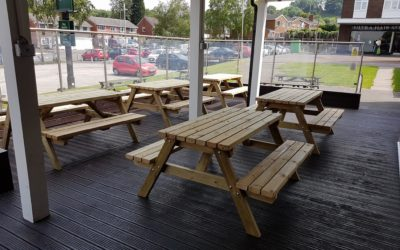 Improve Social Distancing With Our Pub Picnic Tables And Benches