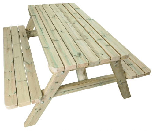 wooden a frame wooden picnic bench