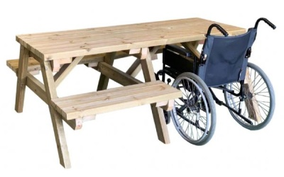 We wheely love our wheelchair accessible picnic tables