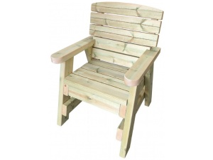Side view of our heavy garden chair