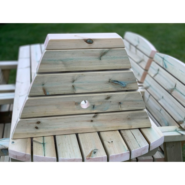 Wooden outdoor love table